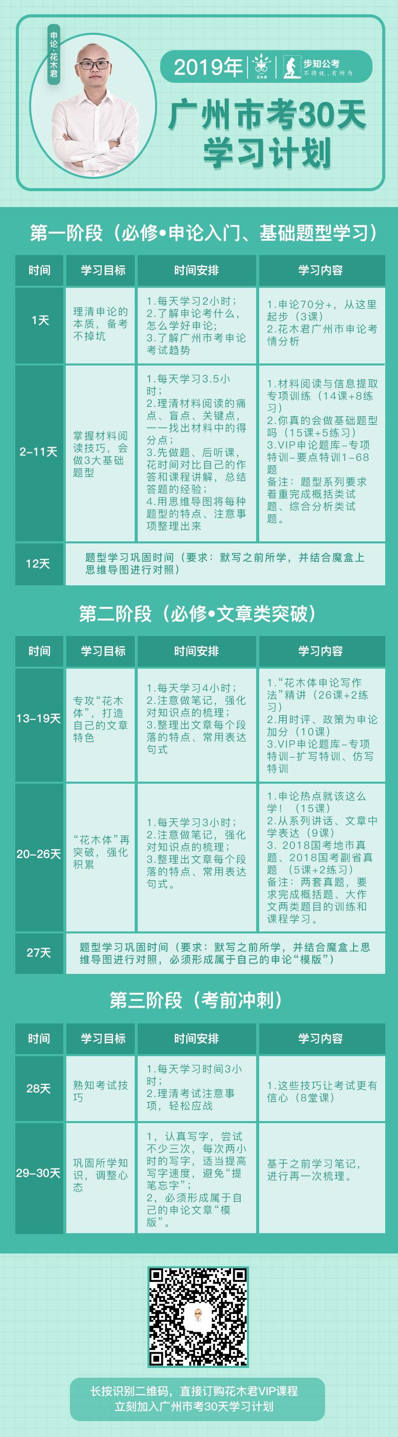 申论花木君2019年广州市考30天学习计划.png